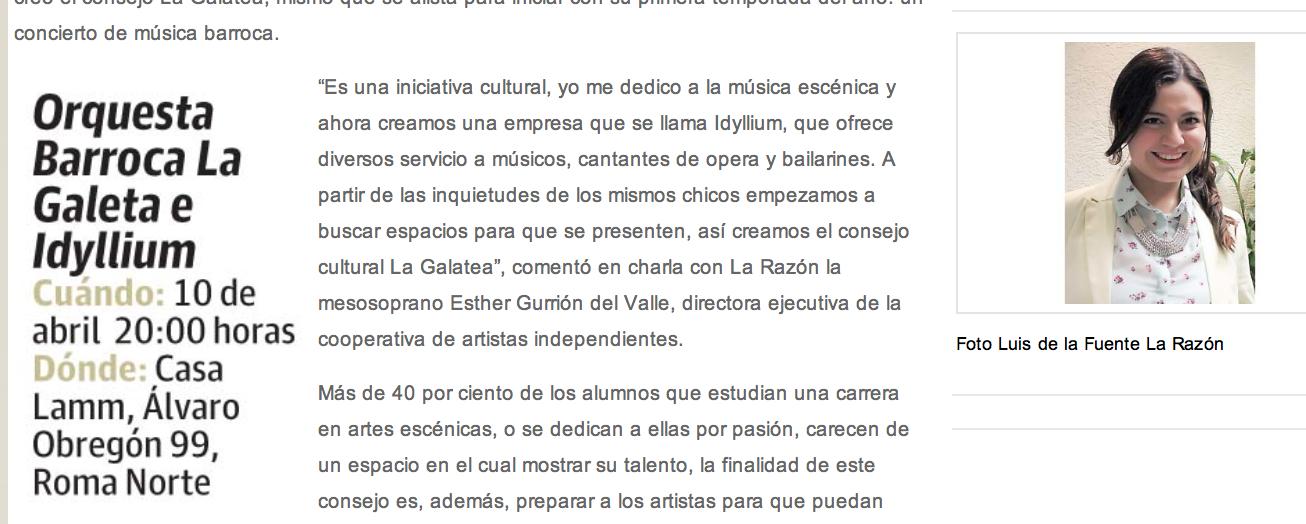 La Galatea busca espacios para las artes escénicas  – Periódico La Razón